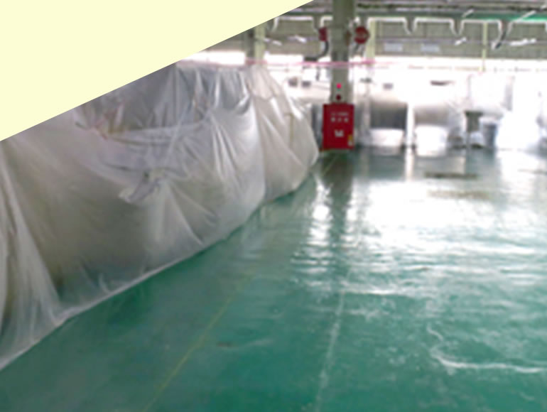 精密機械工場向けエポキシ樹脂再塗装工事