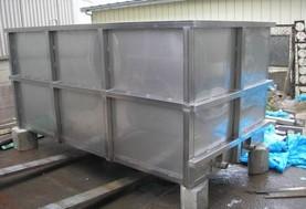 工場内の設備で使用するスクラップボックス