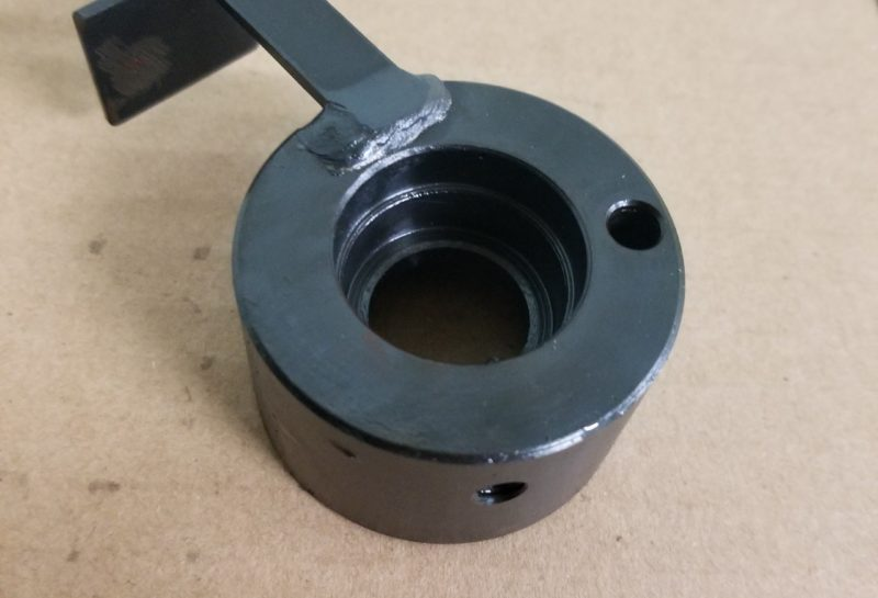 産業機械レバー部品のブラケット