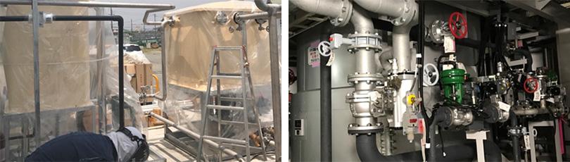 工場の配管設置・改修・メンテナンス工事