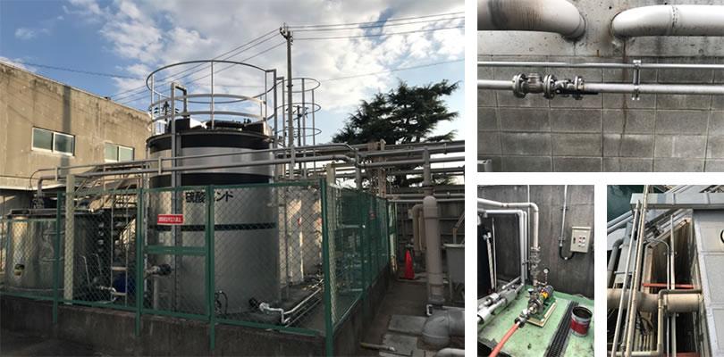 食品工場向けの廃液配管工事実績