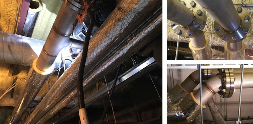 食品工場向け廃水配管工事実績
