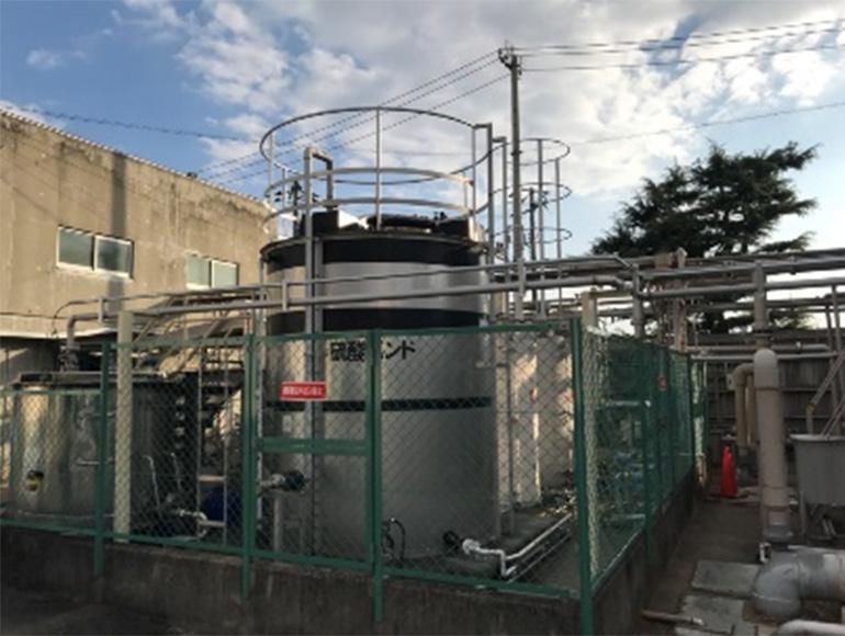 食品工場向け廃液配管工事実績
