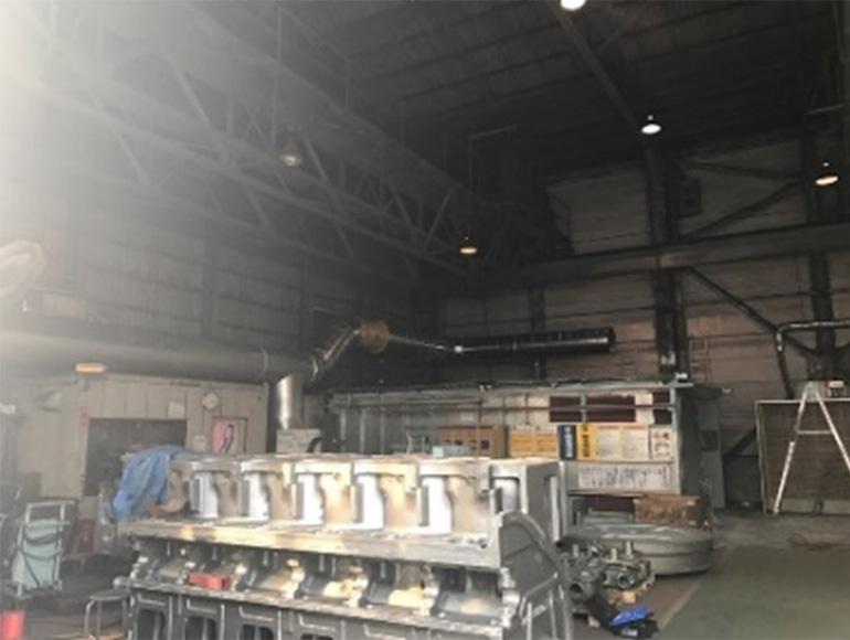 製造工場向け塗装粉体配管工事実績