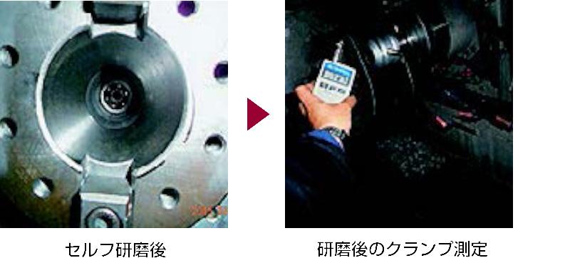 3.セルフ研磨後 4.研磨後のクランプ測定